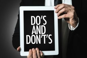 Ageism at work: Do's and Don'ts Sign