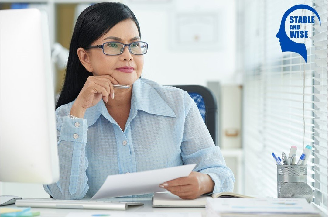 Ageism; a woman in the office