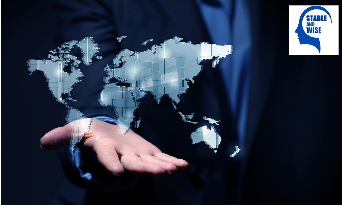 Networking 101; world on man's hand