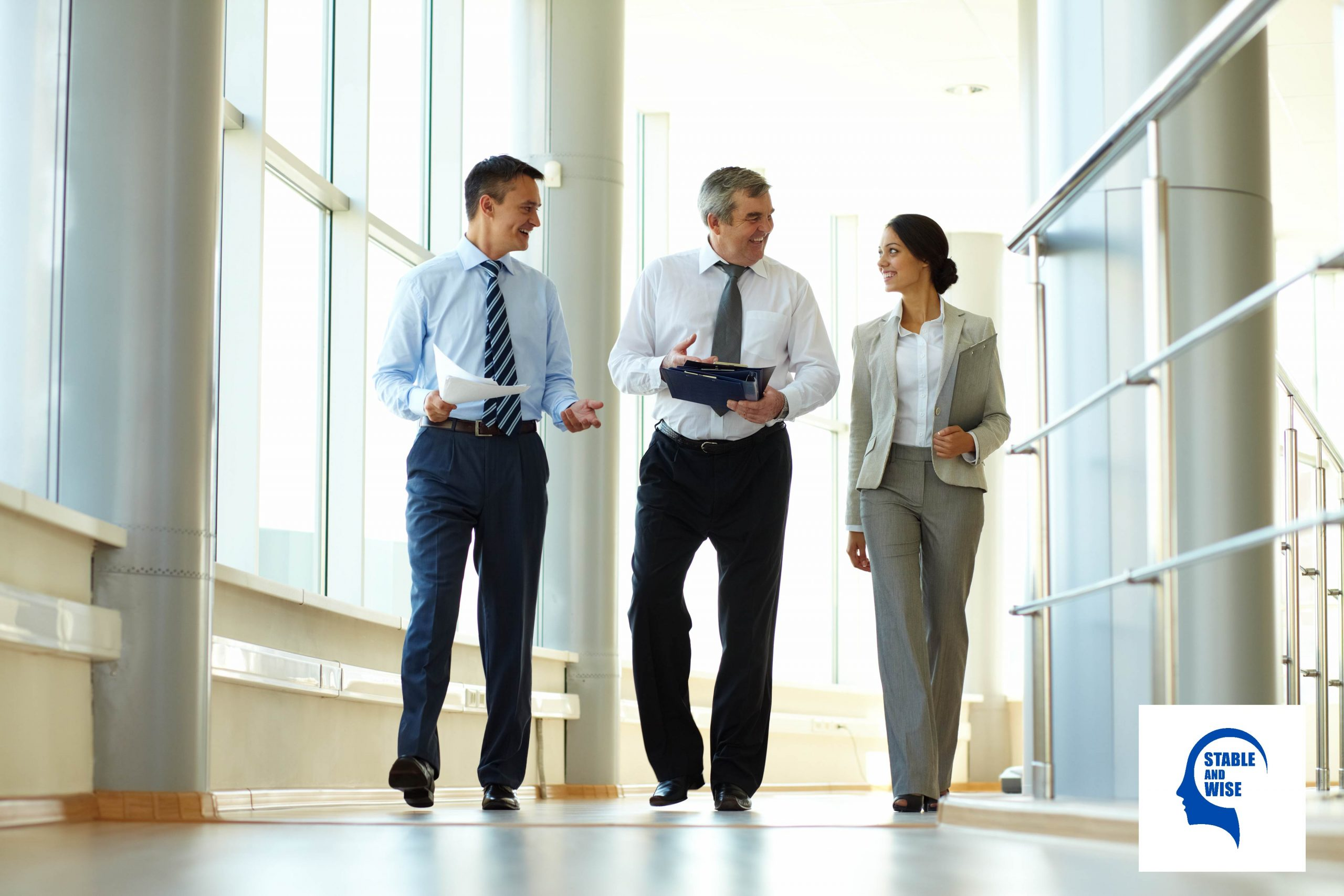 Networking: Mature aged workers networking with each other