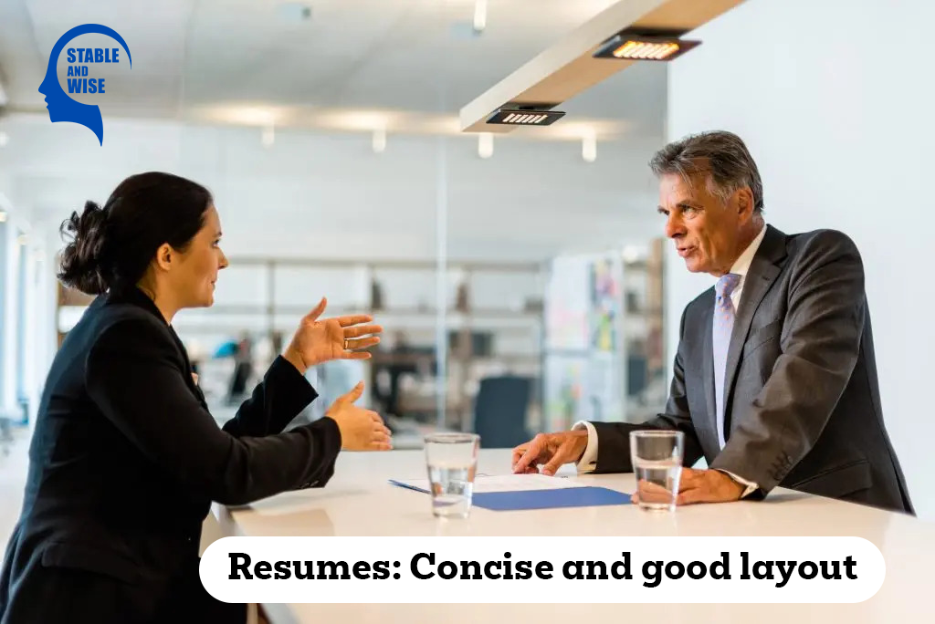 Resume Rules: Young interviewer interviewing a Mature man